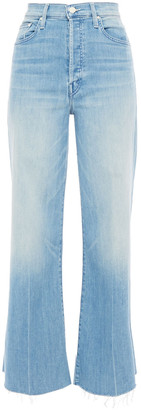 Mother The Tomcat Roller Faded High-rise Flared Jeans