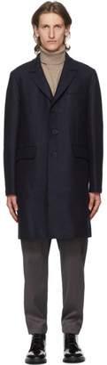 Harris Wharf London Navy Wool Chester Coat