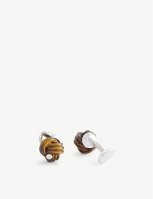 Tateossian Tiger Eye knot cufflinks
