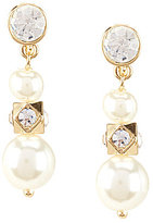 Anne Klein Faux-Pearl Triple-Drop Clip-On Earrings