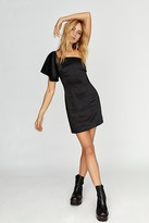 Fame & Partners Cara One-Shoulder Micro Mini Dress by at Free People, Black, US 0