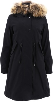 Woolrich Hooded Drawstring Waist Parka Coat