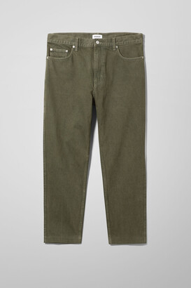 Weekday Funnel Denim Forest Green Chino - Green