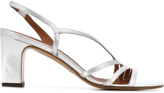 Michel Vivien Bloem 75mm metallic sandals