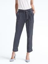 Banana Republic Avery-Fit Stripe Tie-Waist Linen Pant
