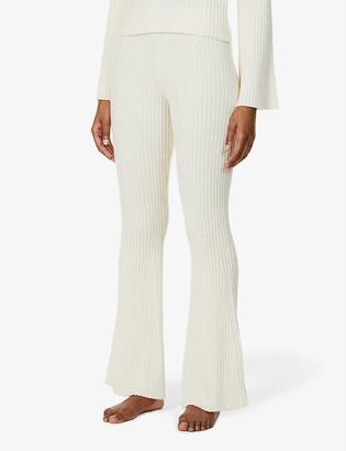 Cordova Solitude flared high-rise wool-cashmere blend trousers