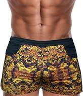 """Danny Miami Men's Board Shorts - God of Kings Collection - Swimming Trunks in Gold and Black (Medium 30""""-32"""")"""