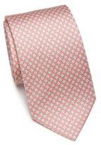 Salvatore Ferragamo Clover Silk Tie