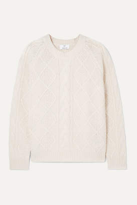 Allude Cable-knit Merino Wool Sweater - Cream