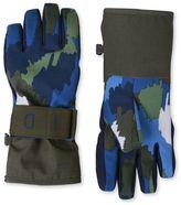 Stella McCartney shredded blue ski gloves
