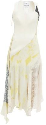 Marine Serre Upcycled Printed Silk Midi Dress - Ivory