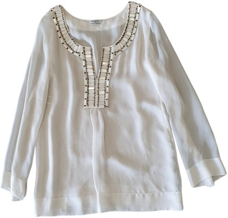 Philosophy di Alberta Ferretti White Silk Top for Women