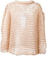 Maison Margiela distressed knit jumper