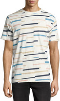 Wesc Max Broken-Stripe Tee Shirt, Winter White