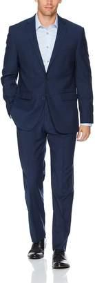 Vince Camuto Men's Slim Fit 100% Wool Denim Twill Suit