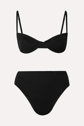 Haight Stretch-crepe Underwired Bikini - Black