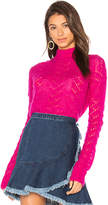 Tanya Taylor Everette Sweater in Pink. - size L (also in M,S,XS)