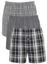 F&F 3 Pack of Woven Boxer Shorts, Men's