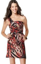 XOXO Dress, Leopard Print One Shoulder
