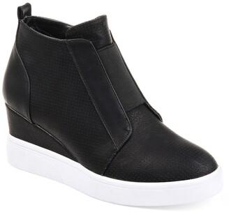 Journee Collection Clara Wedge Sneaker