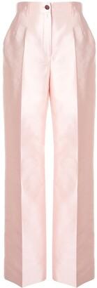 Dolce & Gabbana Wide-Leg Satin Trousers