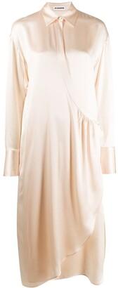 Jil Sander Asymmetric Silk Shirt Dress