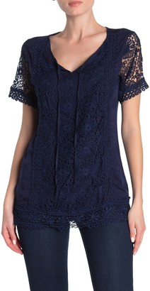 Forgotten Grace Short Sleeve Crochet Blouse