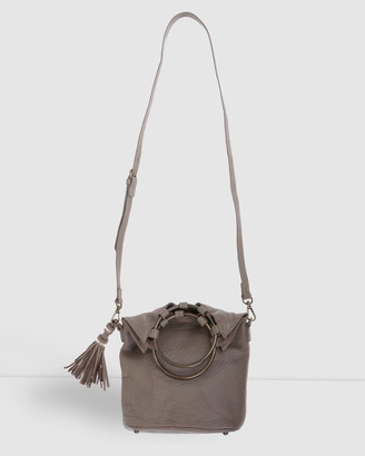Arms Of Eve - Women's Neutrals Cross-body bags - Society Leather Slouch Bag - Size One Size at The Iconic