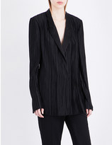 Haider Ackermann Satin-lapel pleated blazer