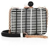 Sophia Webster Vivi Woven Patent Leather Box Crossbody Bag