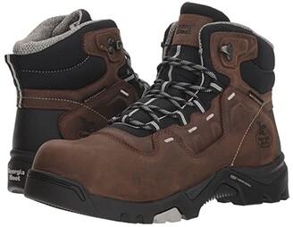 Georgia Boot Amplitude 5 Comp Toe Waterproof (Brown) Men's Work Boots