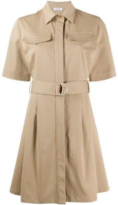 P.A.R.O.S.H. Cyber flared shirt dress