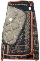 Peter Pilotto asymmetric quilted skirt