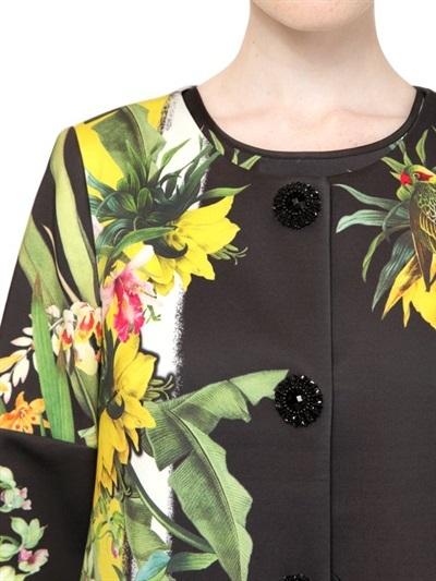 Floral Print Short Sleeved Coat