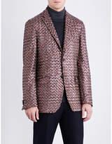 Etro Diamond-patterned Sequin-embellished Jacket