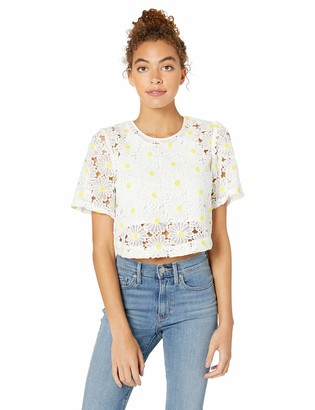 BCBGeneration Women's Overlay Floral Blouse