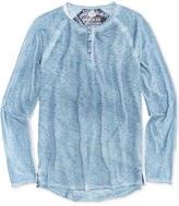 American Rag Men's Raw Edge Spring Henley, Only At Macy's