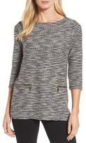 Chaus Women's Zip Pocket Slubby Knit Top