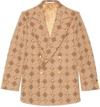 Gucci Woven G rhombus cotton jacket