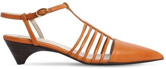 Stella McCartney 10mm Mid Heel Faux Leather Sandals