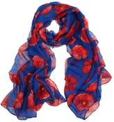 Tonsee® 1PC Flower Red Poppy Print Long Scarf Beach Wrap Ladies Stole Shawl