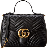 Gucci Gg Marmont Medium Matelasse Leather Top Handle Satchel