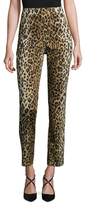 Carolina Herrera Cotton Leopard Printed Ankle Pant