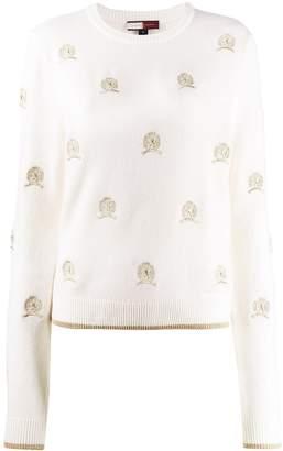 Tommy Hilfiger embroidered crest jumper