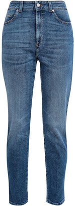 Alexander McQueen Embroidered High-rise Slim-leg Jeans