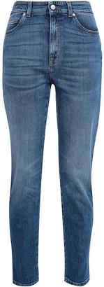 Alexander McQueen Embroidered High-rise Slim-leg Jeans
