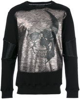 Philipp Plein metallic skull print top - men - Cotton/Polyester/Polyurethane - M