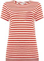 Part Two Stripe round neck tee with pocket