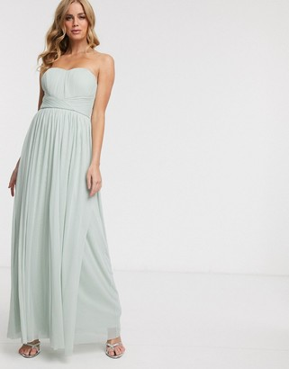 Lipsy multiway maxi dress in soft green