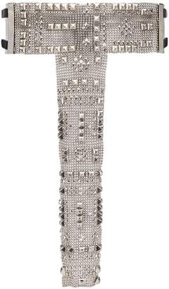 Gianfranco Ferré Pre Owned 2000s Embellished Chainmail Belt